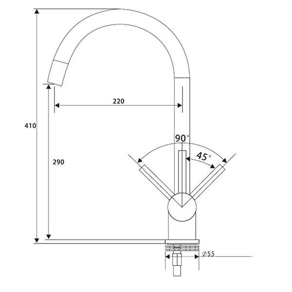 Inox-Metal-Free-Tap-Dimensions
