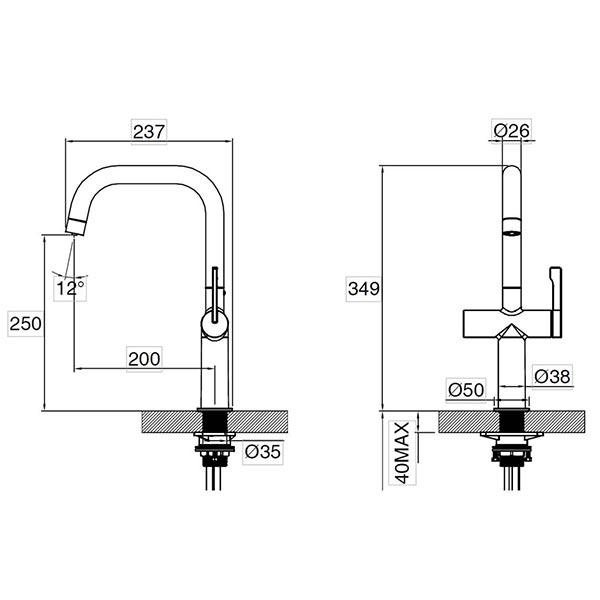 Mariner-Tri-Flow-Tap-Dimensions